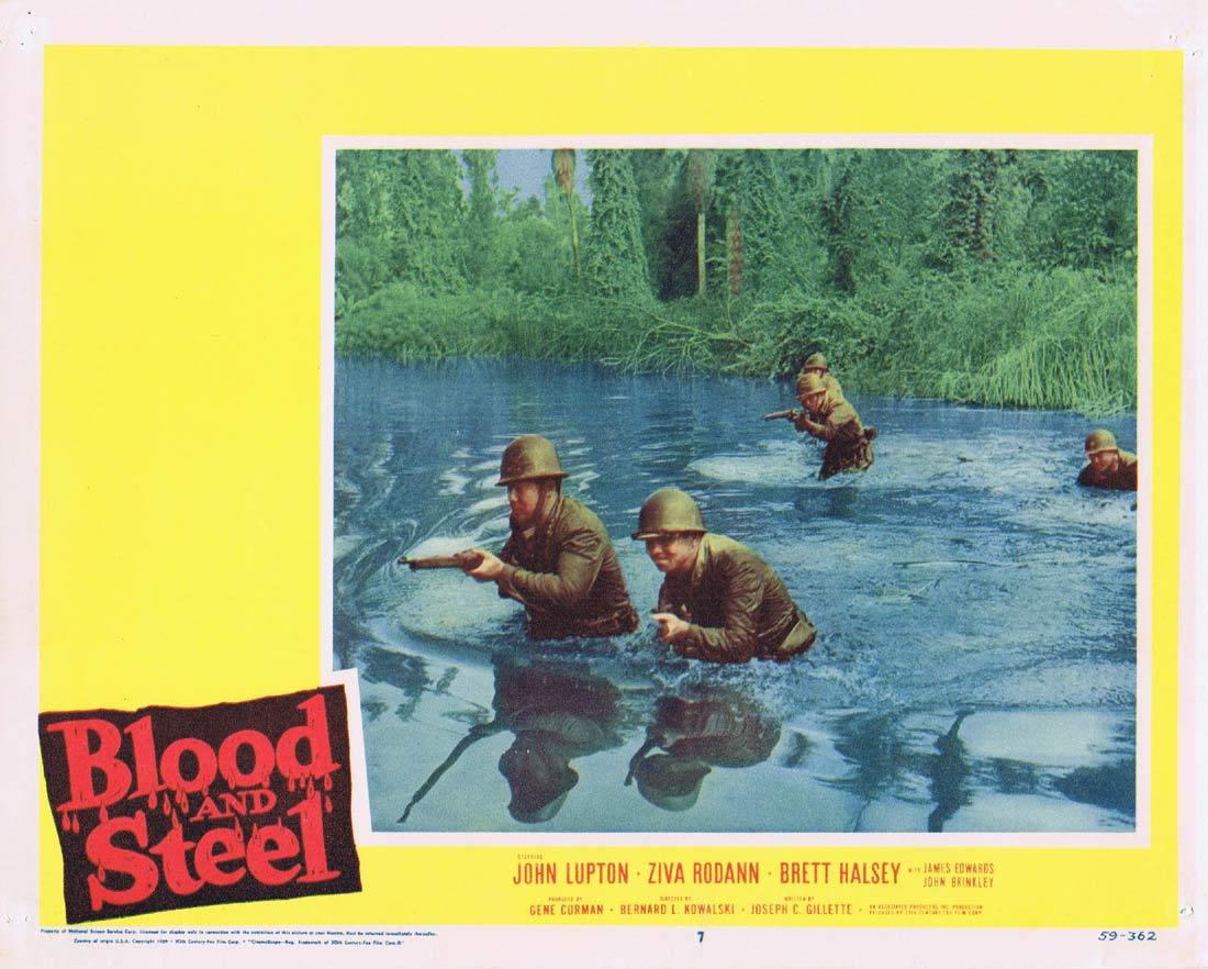 BLOOD AND STEEL Lobby Card 6 John Lupton James Edwards Brett Halsey 1959