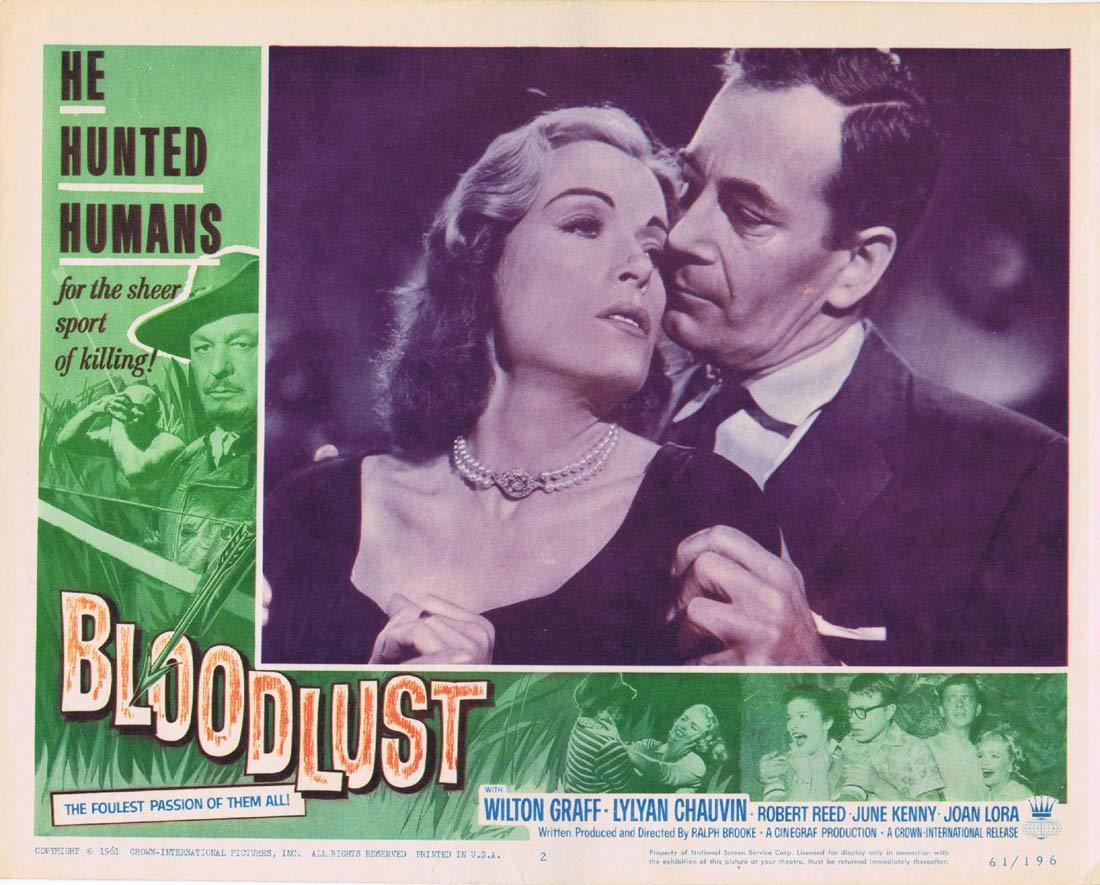 BLOODLUST Original Lobby Card 2 Wilton Graff June Kenney