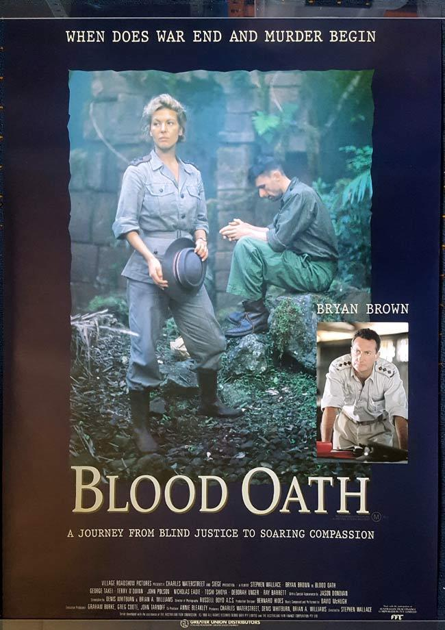BLOOD OATH Australian One Sheet Movie Poster ROLLED Bryan Brown