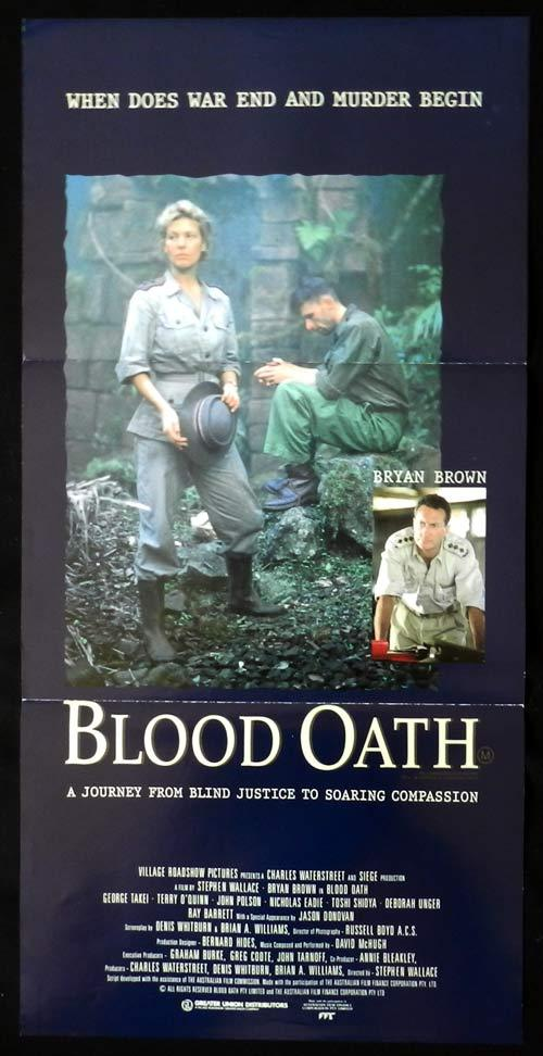 BLOOD OATH Original Daybill Movie Poster Bryan Brown Prisoners of the Sun