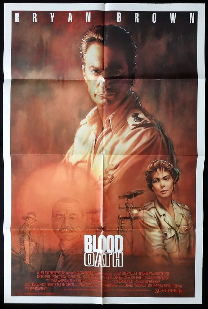 BLOOD OATH US One Sheet Movie Poster Bryan Brown