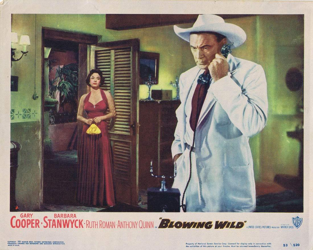 BLOWING WILD Lobby card 2 Gary Cooper Barbara Stanwyck