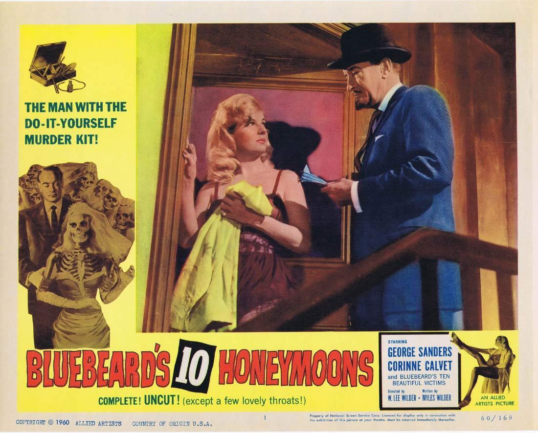 BLUEBEARD'S 10 HONEYMOONS Lobby Card 1 George Sanders Corinne Calvet Jean Kent.
