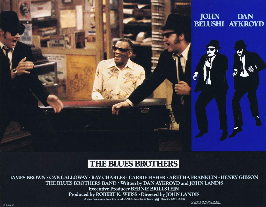 THE BLUES BROTHERS Vintage Lobby Card 6 Ray Charles John Belushi