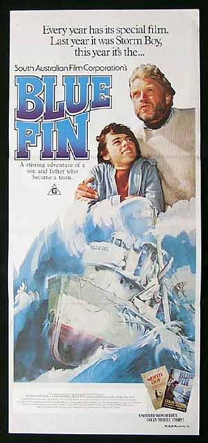 BLUE FIN 1978 Hardy Kruger Greg Rowe AUSTRALIAN FILM Daybill Movie poster