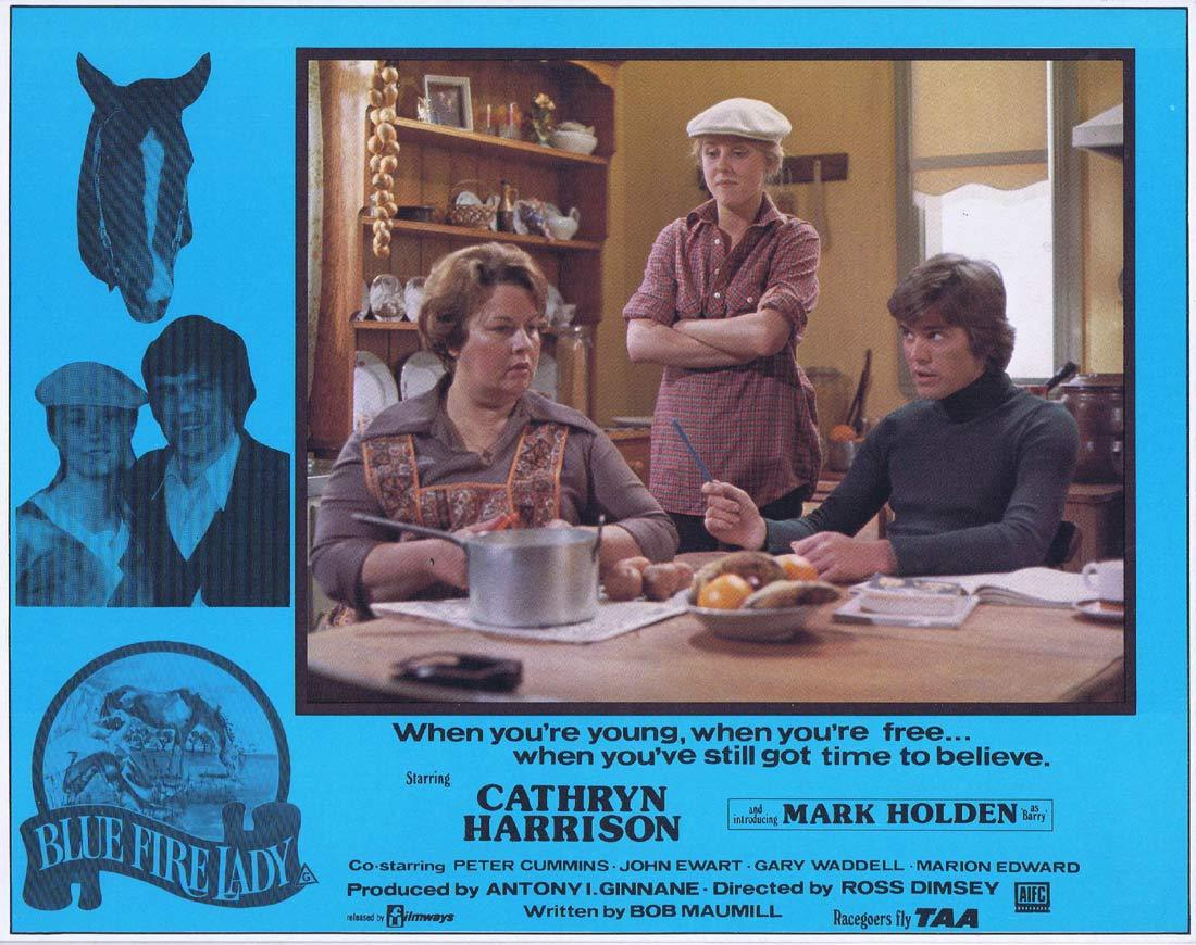 BLUE FIRE LADY Original Lobby Card 2 Cathryn Harrison Mark Holden