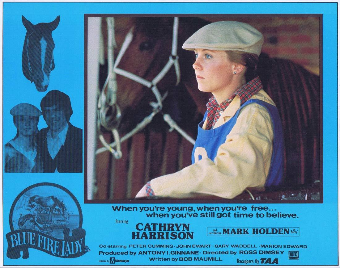 BLUE FIRE LADY Original Lobby Card 3 Cathryn Harrison Mark Holden