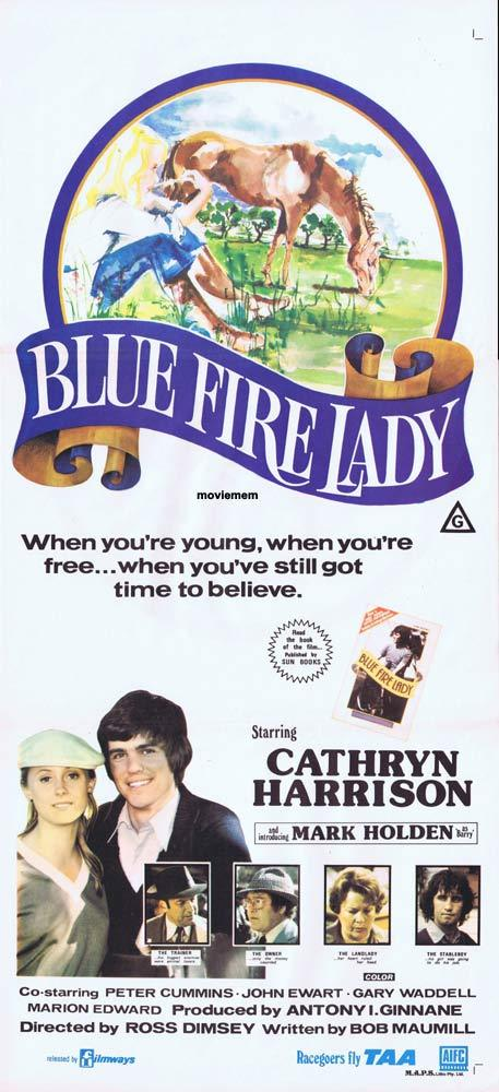 BLUE FIRE LADY Original Daybill Movie Poster Mark Holden
