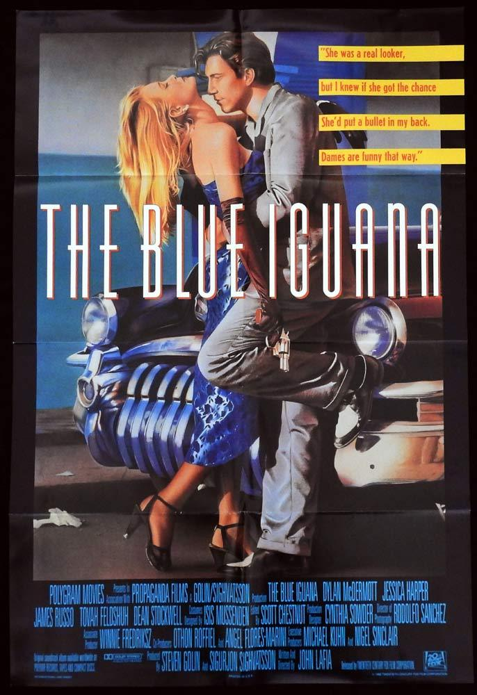 THE BLUE IGUANA One sheet Movie poster Dylan McDermott Jessica Harper John Lafia