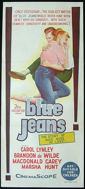 BLUE JEANS aka BLUE DENIM Original Daybill Movie poster Carol Lynley
