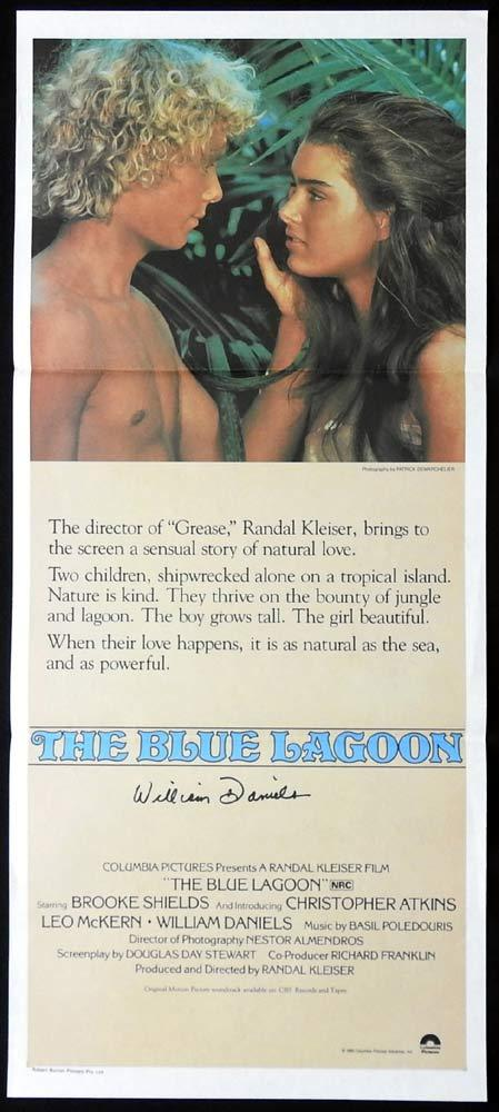 THE BLUE LAGOON Original Daybill Movie Poster WILLIAM DANIELS Autograph