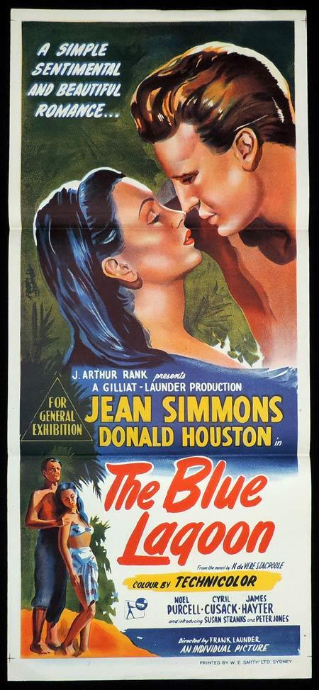 THE BLUE LAGOON Original Daybill Movie Poster Donald Houston Jean Simmons