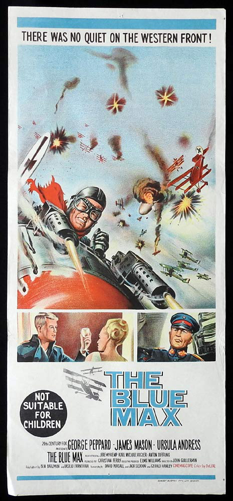 THE BLUE MAX Original Daybill Movie Poster George Peppard