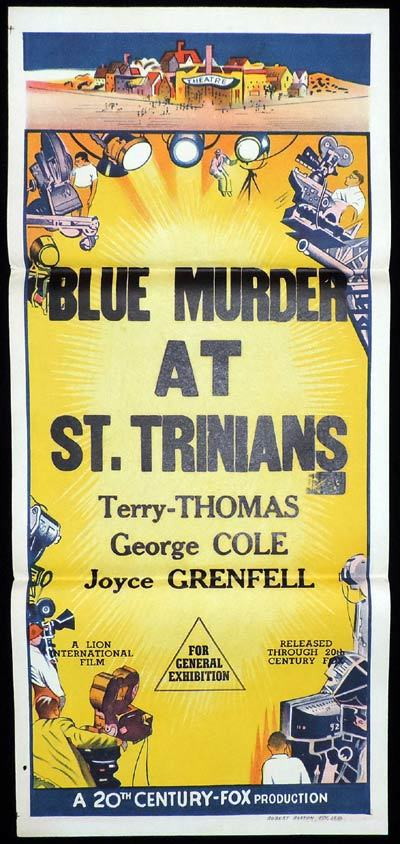 BLUE MURDER AT ST TRINIANS Stock Daybill Movie poster George Cole Terry-Thomas