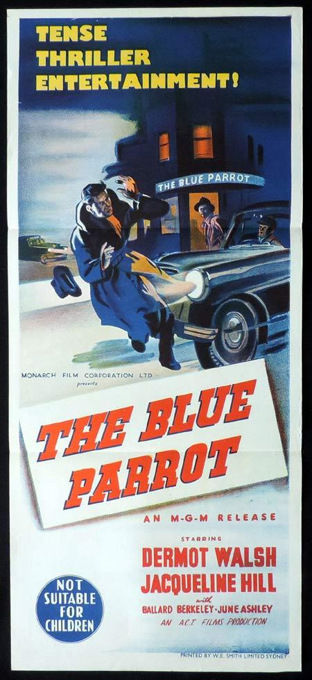 THE BLUE PARROTT Original Daybill Movie Poster Dermot Walsh Film Noir