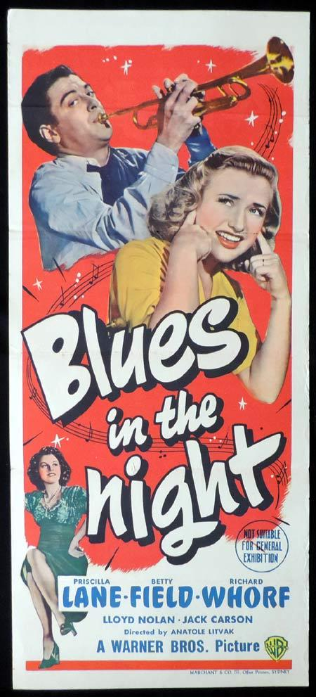 BLUES IN THE NIGHT Original Daybill Movie Poster Priscilla Lane Marchant Graphics