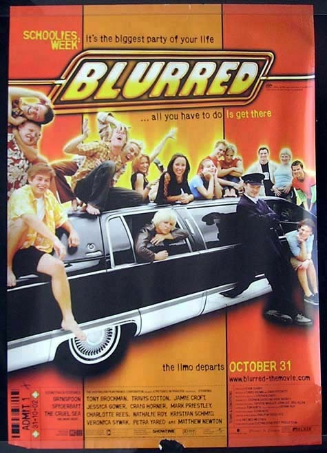 BLURRED Spiderbait SCHOOLIES Movie Poster Australian One sheet