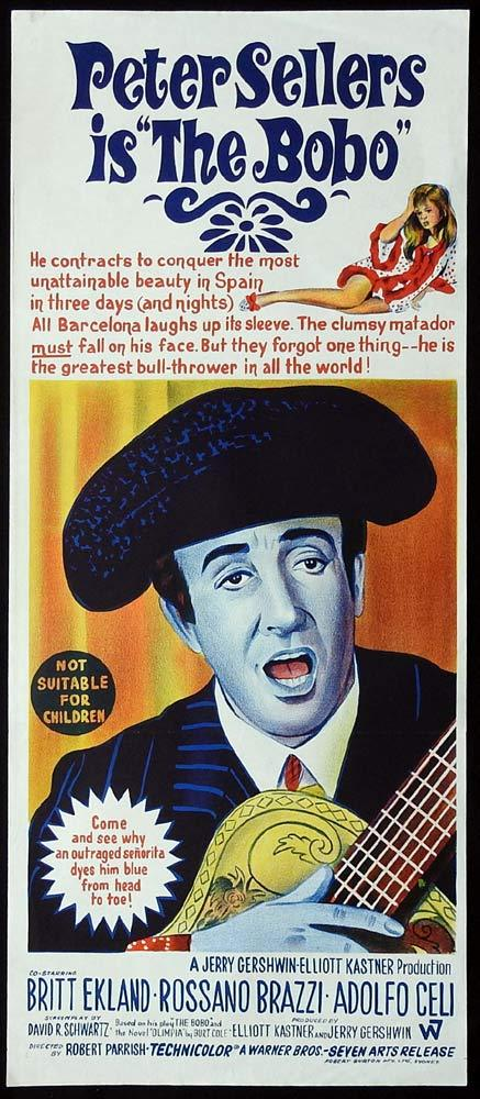 THE BOBO Original Daybill Movie Poster Peter Sellers Britt Ekland