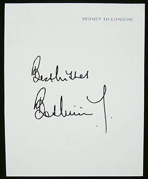 BOB WILLIS – England cricket Captain Autograph