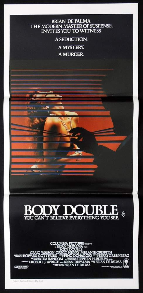 BODY DOUBLE Original Daybill Movie poster BRIAN DEPALMA Melanie Griffith