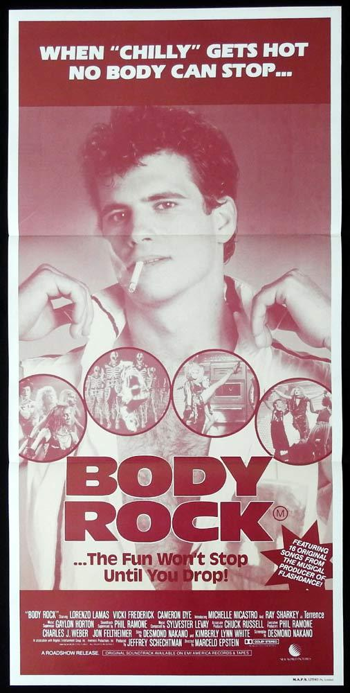 BODY ROCK Original Daybill Movie poster Lorenzo Lamas Ray Sharkey Seth Kaufman