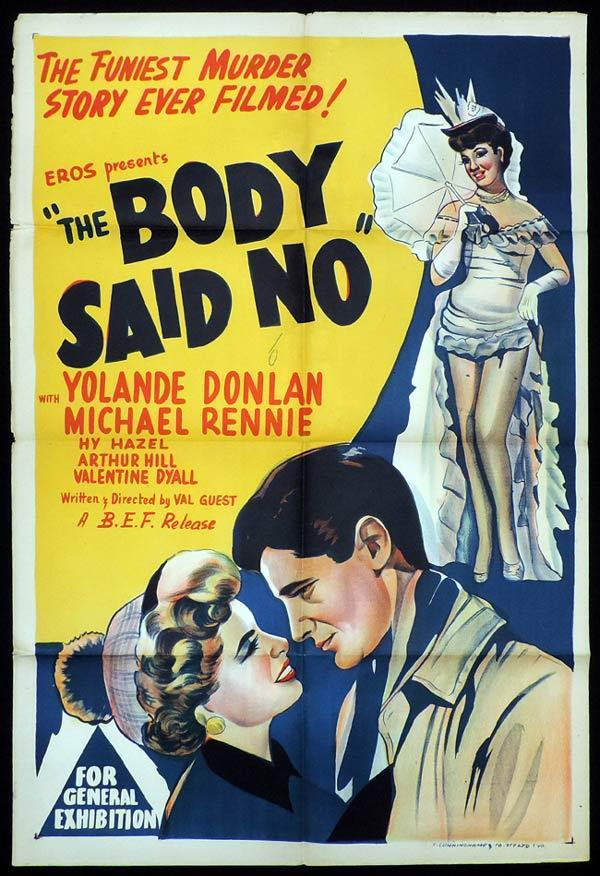 THE BODY SAID NO One Sheet Movie Poster Yolande Donlan