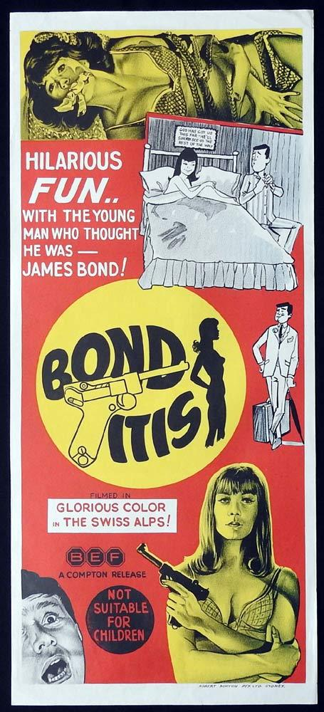 BONDITIS Original Daybill Movie Poster Gerd Baltus James Bond