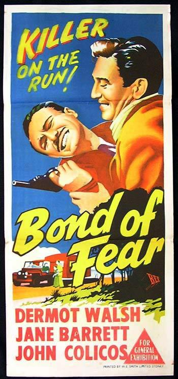 BOND OF FEAR Daybill Movie poster Dermot Walsh British Film Noir