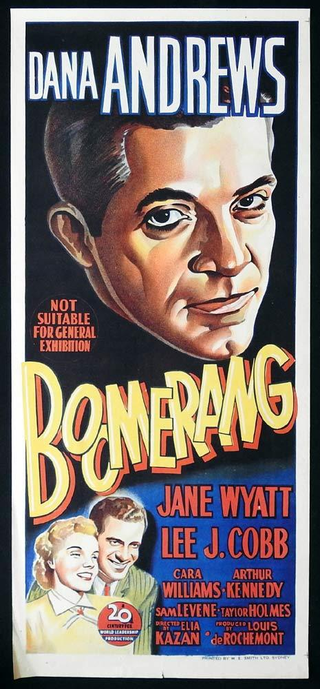 BOOMERANG Original Daybill Movie poster Dana Andrews Film Noir