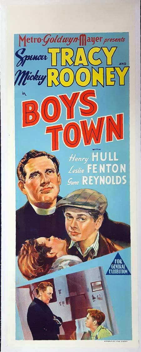 BOYS TOWN Long Daybill Movie poster Spencer Tracy Mickey Rooney Henry Hull