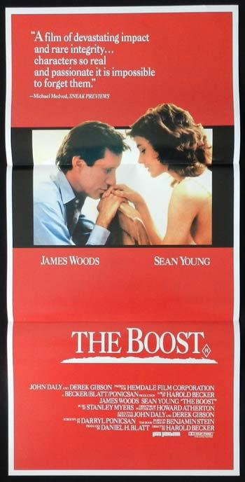THE BOOST Daybill Movie poster 1988 James Woods COCAINE Drug use