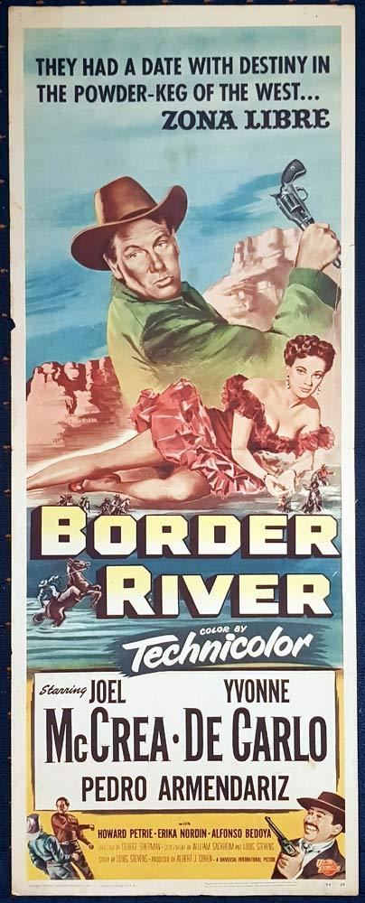 BORDER RIVER Movie Poster Joel McCrea US Insert