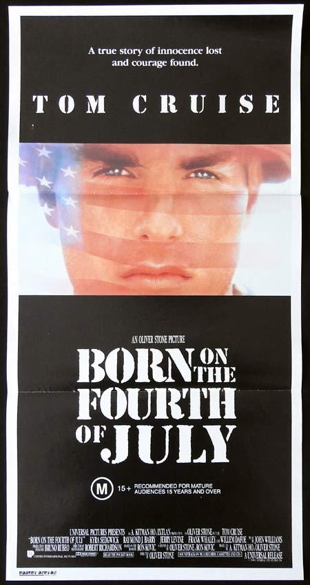BORN ON THE FOURTH OF JULY Original Daybill Movie Poster Tom Cruise Kyra Sedgwick