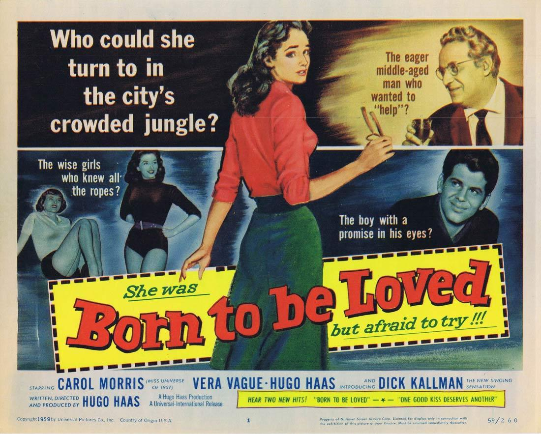 BORN TO BE LOVED Title Lobby Card Carol Morris Barbara Jo Allen Hugo Haas