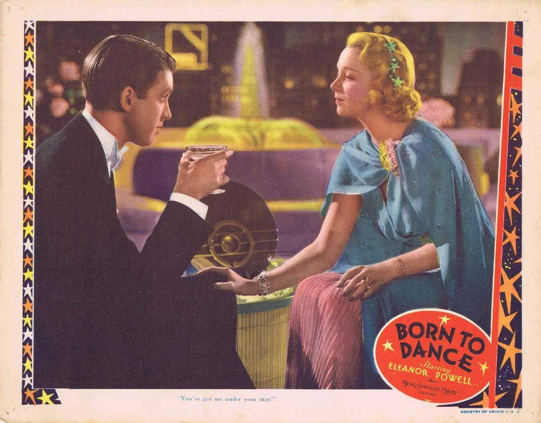 BORN TO DANCE Lobby CardEleanor Powell James Stewart Virginia Bruce 1936