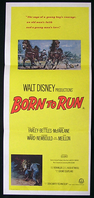 BORN TO RUN Australian Daybill 1977 Horseracing Trotting