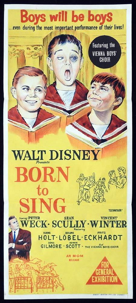 BORN TO SING Original Daybill Movie poster Vienna Boys Choir Almost Angels