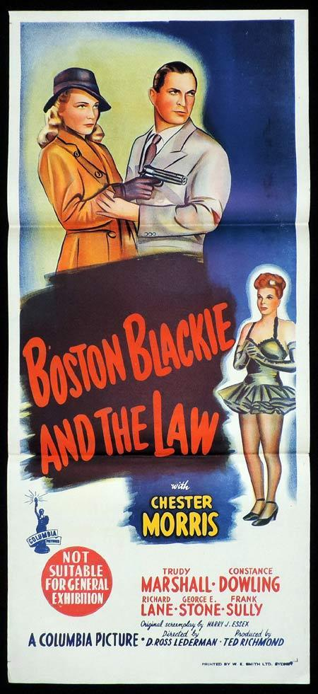 BOSTON BLACKIE AND THE LAW Original Daybill Movie Poster Chester Morris