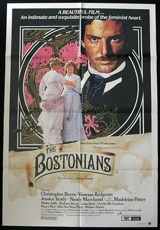 THE BOSTONIANS Original One sheet Movie poster Christopher Reeve Vanessa Redgrave
