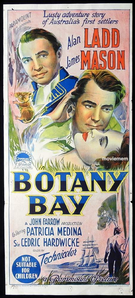 BOTANY BAY Original Daybill Movie poster Alan Ladd James Mason RICHARDSON STUDIO