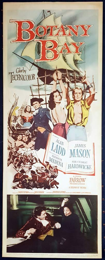 BOTANY BAY Original US Insert Movie Poster Alan Ladd James Mason