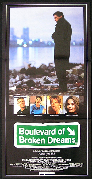 BOULEVARD OF BROKEN DREAMS 1988 John Waters daybill Movie poster