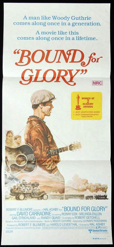 BOUND FOR GLORY Original Daybill Movie Poster David Carradine Ronny Cox
