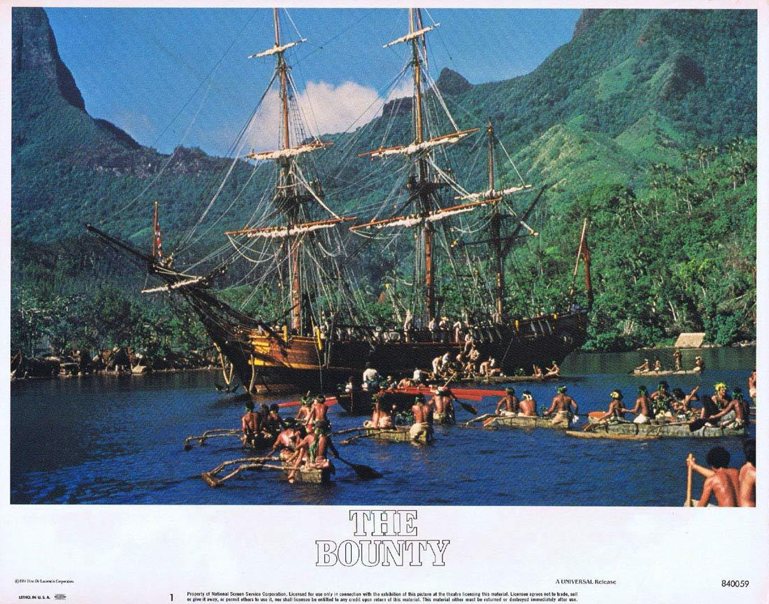 THE BOUNTY Vintage US Lobby Card 1 Mel Gibson Anthony Hopkins