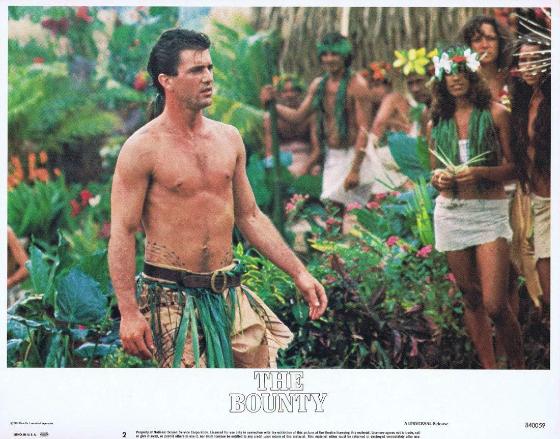 THE BOUNTY Vintage US Lobby Card 2 Mel Gibson Anthony Hopkins