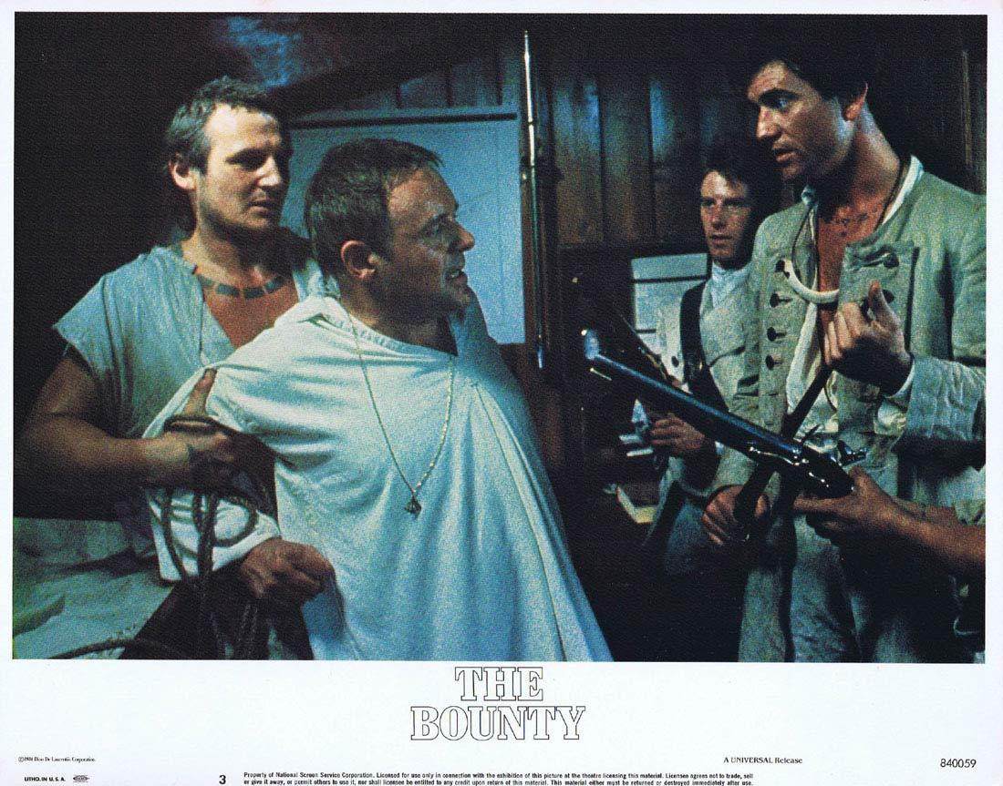 THE BOUNTY Vintage US Lobby Card 3 Mel Gibson Anthony Hopkins