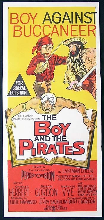 BOY AND THE PIRATES Rare Original daybill Movie Poster