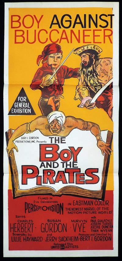 THE BOY AND THE PIRATES Original Daybill Movie Poster Charles Herbert