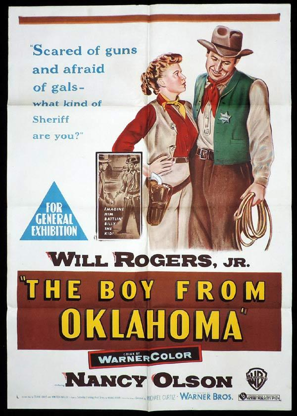 THE BOY FROM OKLAHOMA One Sheet Movie Poster Will Rogers Western