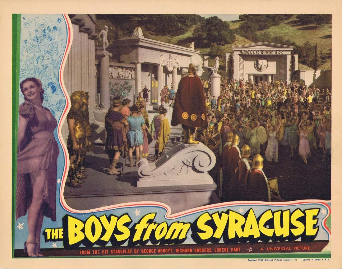 THE BOYS FROM SYRACUSE Lobby Card Allan Jones Rodgers and Hart